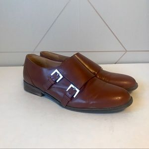 Nine West Leather Toastie Double Monk Strap Loafer